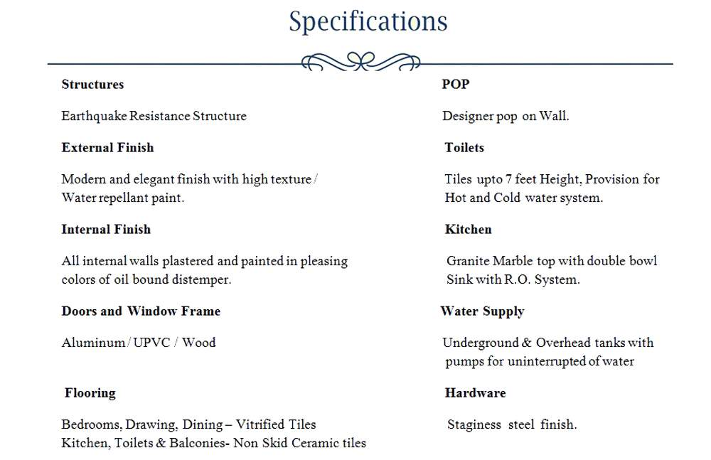 shalimar city specification